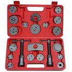 22 tlg. Bremskolbenrücksteller Set Rückstellsatz Werkzeug mit links- und rechtsdrehender Gewindespindel